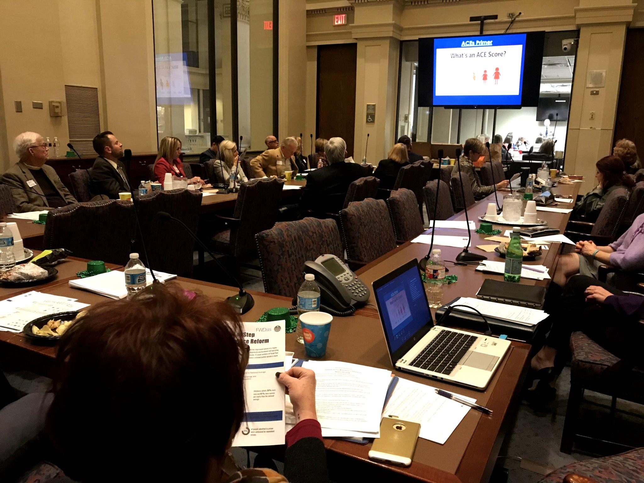Presentation on ACEs for Early Childhood Legislative Caucus. Photo courtesy of Linda Manaugh.